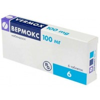 Vermox 100 mg No. 6 tablets - Lusomedicament Sociedade Technica Pharmaceuticals, S.A., Portugal