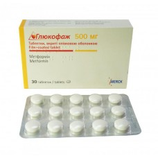 Glucophage tablets for diabetes 500 mg No. 30