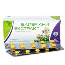 Valerian Extract tablets, 20 mg, 50 pcs.