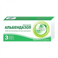 Albendazole 400mg N3 chewable tablets