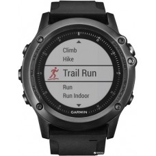 Garmin Fenix 3 Sapphire HR Gray with Black Silicone Band (010-01338-71)