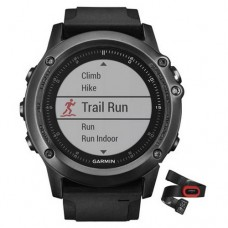 Garmin Fenix 3 Sapphire HR Performer Bundle Gray with Black Silicone Band (010-01338-74)