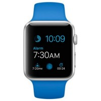 Apple Watch Sport 42mm Silver Aluminum Case with Royal Blue Sport Band (MMFM2)