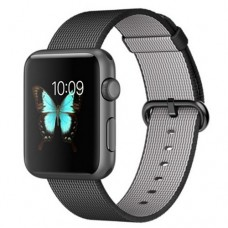 Apple Watch Sport 42mm Space Gray Aluminum Case with Black Woven Nylon (MFR2)