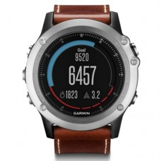 Garmin Fenix 3 Sapphire Silver with Leather Band (010-01338-62)
