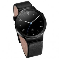 Huawei Watch (Black Stainless Steel with Flat Black Leather Strap)