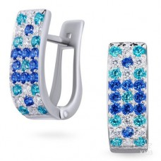 EARRINGS with spinel and zirconium