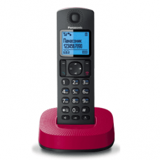 DECT Panasonic KX-TGC310UCR Black Red phone