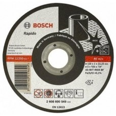 Cutting wheel on stainless steel of Bosch 125х1