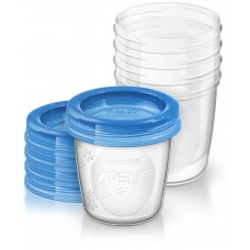 Containers for storage of AVENT (SCF619/05) breast milk