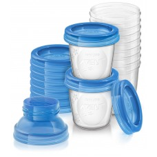 Containers for storage of AVENT (SCF618/10) breast milk