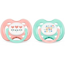 AVENT dummy for girls of 0-6 months of 2 pieces (SCF172/02)