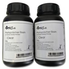 Bottle with photopolymeric XYZprinting pitch 2kh05kg, UV elastic