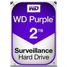 Hard drive internal WDC HDD SATA 2TB 6GB/S 64MB/PURPLE (WD20PURZ)