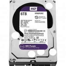 Hard drive internal WDC HDD SATA 6TB 6GB/S 64MB/PURPLE (WD60PURZ)