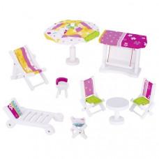 Set for goki dolls Garden Furniture (51586G)