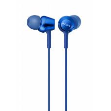 Sony MDR-EX255AP mic blue earphones