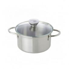 Game saucepan of Nic metal with a glass cover of 9 cm (NIC530305)