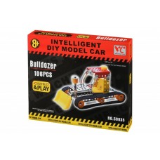 Designer metal Same Toy Inteligent DIY Model Car Bulldozer of 106 elements (58035Ut)