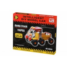 Designer metal Same Toy Inteligent DIY Model Car Dump truck of 116 elements (58031Ut)
