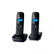 DECT Panasonic KX-TG1612UAH Black Grey phone