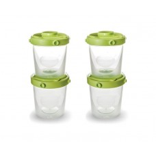 A set of containers for food and Nuvita milk of 4 pieces 200 ml. (NV1466)