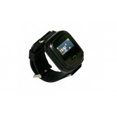 Children's watch phones with the GPS GOGPS ME K11 tracker black (K11BK)