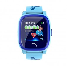 Children's watch phones with the GPS GOGPS ME K25 tracker blue (K25BL)