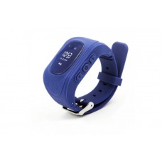 Children's watch phones with the GPS GOGPS ME K50 tracker dark blue (K50DBL)