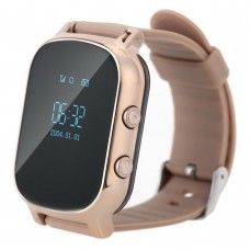 Children's watch phones with the GPS GOGPS ME K20 tracker of gold (K20GD)