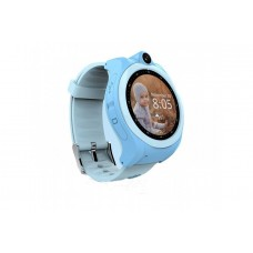Children's watch phones with the GPS GOGPS ME K19 tracker blue (K19BL)