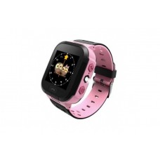Children's watch phones with the GPS GOGPS ME K12 tracker pink (K12PK)