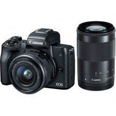 CANON EOS M50 camera + 15-45 IS STM + 55-200 IS STM Black (2680C054)
