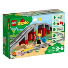 Designer LEGO DUPLO Zheleznodorozhny Bridge and rails (10872)
