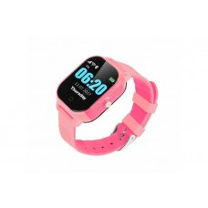 Children's watch phones with the GPS GOGPS ME K23 tracker pink (K23PK)