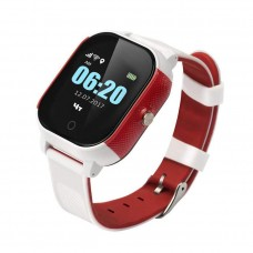 Children's watch phones with the GPS GOGPS ME K23 tracker white with red (K23WHRD)