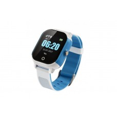 Children's watch phones with the GPS GOGPS ME K23 tracker blue with white (K23BLWH)