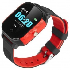 Children's watch phones with the GPS GOGPS ME K23 tracker black with red (K23BKRD)