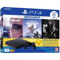 Game console SONY PlayStation 4 Slim 1Tb (Horizon Zero Dawn + Detroit + The Last of Us + PSPlus 3M) (9926009)