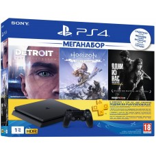 Game console SONY PlayStation 4 Slim 1Tb (Horizon Zero Dawn + Detroit + The Last of Us + PSPlus 3M) (9926009)