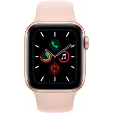 Gold Aluminium Case with Pink Sand Sport Band Apple Watch Series 5 GPS 40mm smartwatch