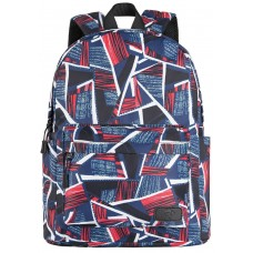 Backpack 2E TeensPack Absrtraction Red/Blue