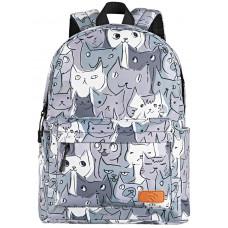 Backpack 2E TeensPack Cats Gray