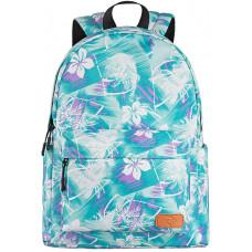 Backpack 2E TeensPack Wildflowers Green/Blue