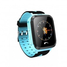 Children's watch phones with the GPS GOGPS ME K13 tracker blue (K13BL)