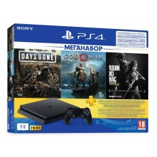 Game console SONY PlayStation 4 Slim 1Tb (Days Gone + God Of War + The Last of Us + PSPlus 3M) (9382102)