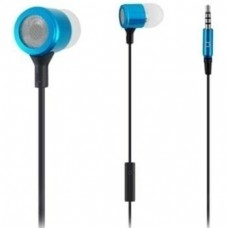 Global Sound C3063BlM mic blue earphones