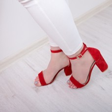 Sandals suede red 36 Free shipping