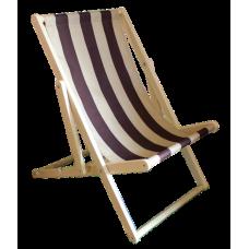 Chaise longue (chair, armchair) wooden cloth folding beach garden. Free shipping