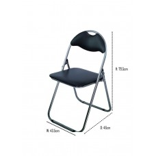 Folding-Chair-Padded-Seat-Desk-Chairs-Foldable-Storage-Backrest-Office-Reception.   Free shipping